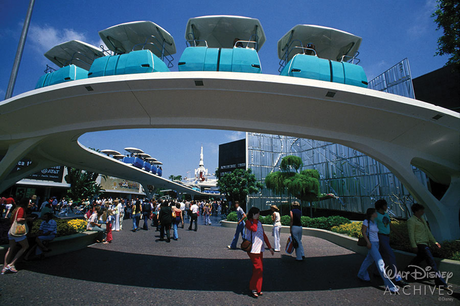 PeopleMover photo from the Walt Disney Archives