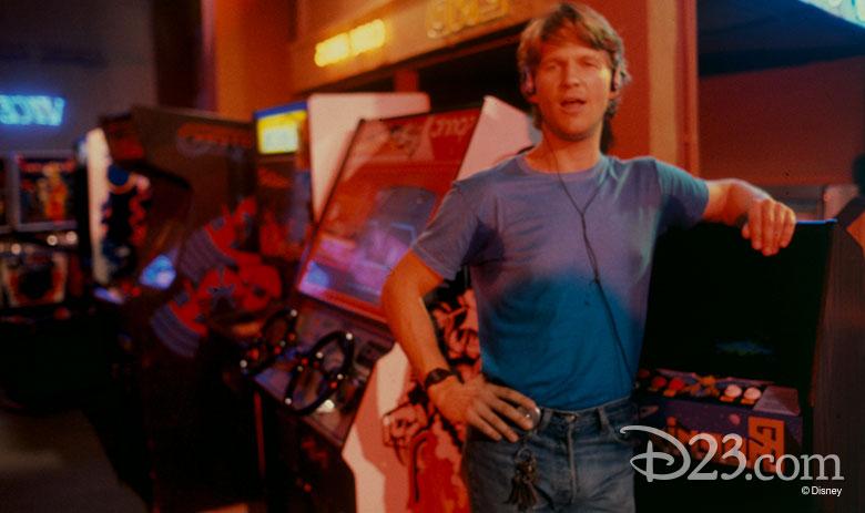 Jeff Bridges as Kevin Flynn at Flynn's Arcade.
