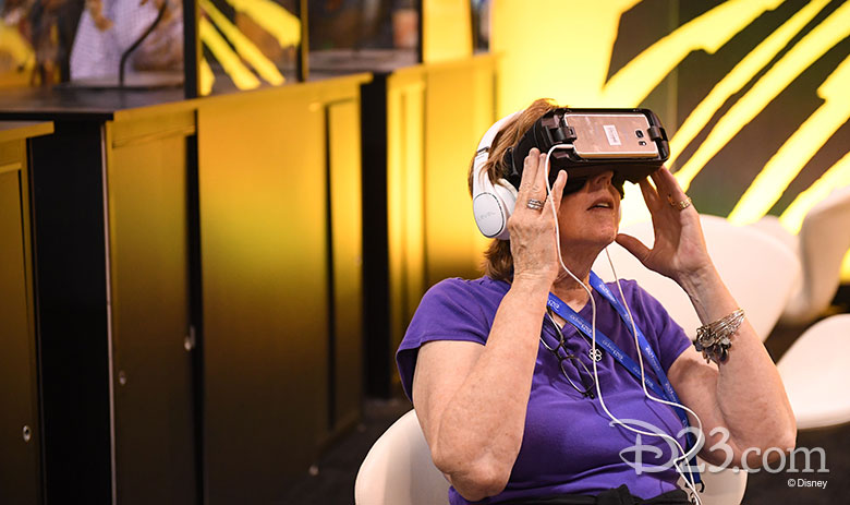 D23 Expo 2017 show floor - The Lion King VR experience