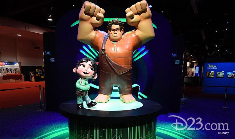 D23 Expo 2017 show floor - Walt Disney Animation Studios and Pixar pavilion