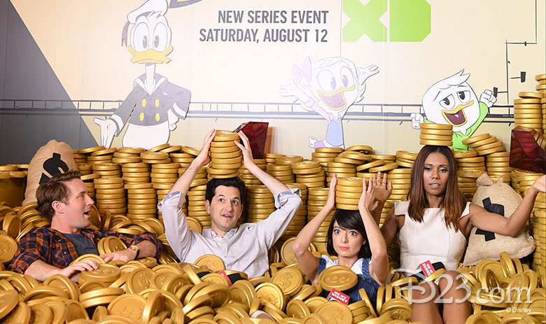 DuckTales cast in the money bin