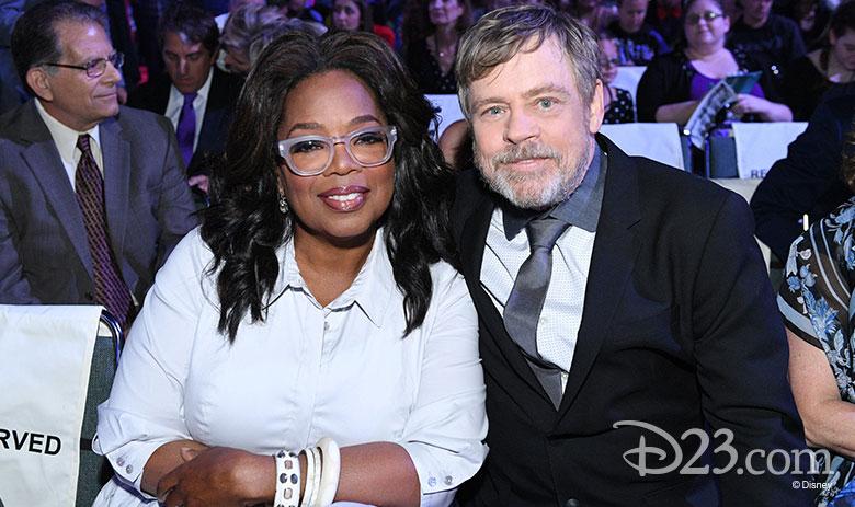 Oprah Winfrey and Mark Hamill