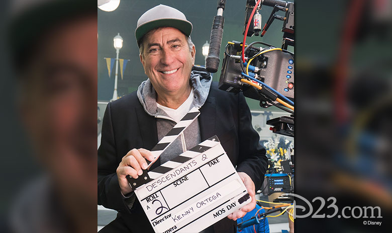 Kenny Ortega on set