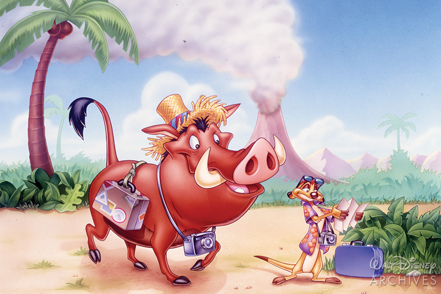 Pumba and Timon in the desert