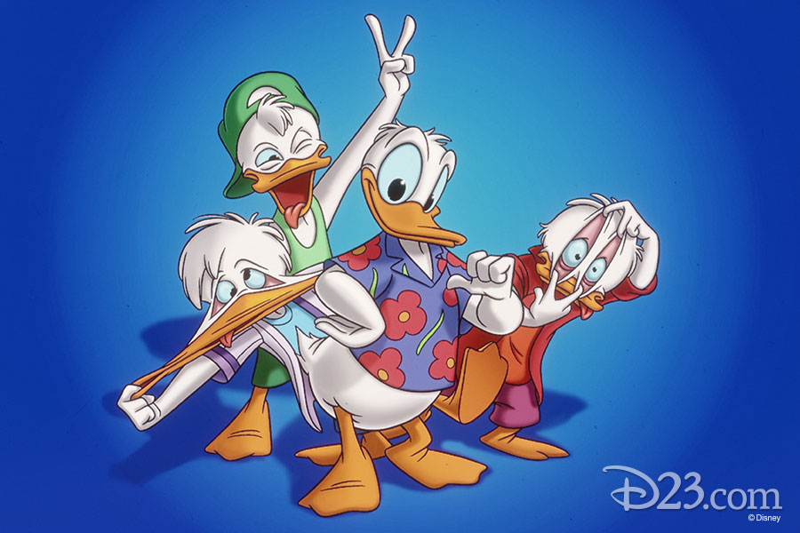 Donald and his nephews acting goofy