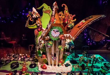 Haunted Mansion Holiday Oogie Boogie gingerbread house