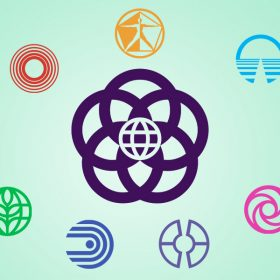 Epcot Center Pavilion logos