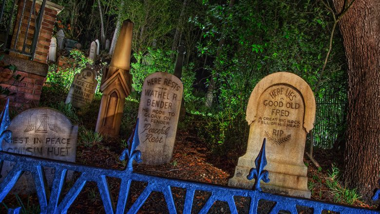 Haunted Mansion graveyard