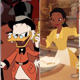 Boo, Scrooge, Tiana, and Hiro