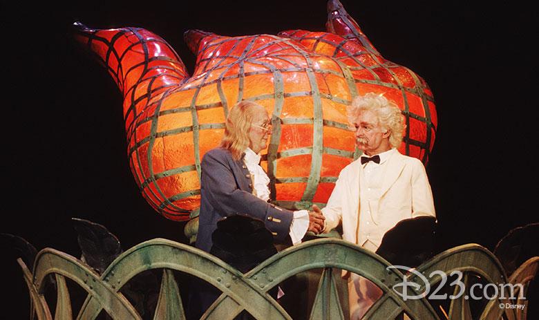 Ben Franklin and Mark Twain audio-animatronics