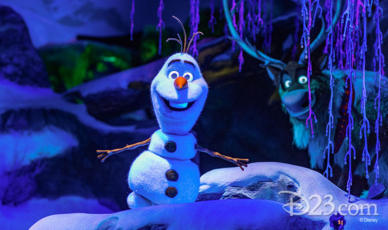 Olaf audio-animatronic