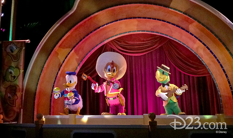 The Three Caballeros audio-animatronics