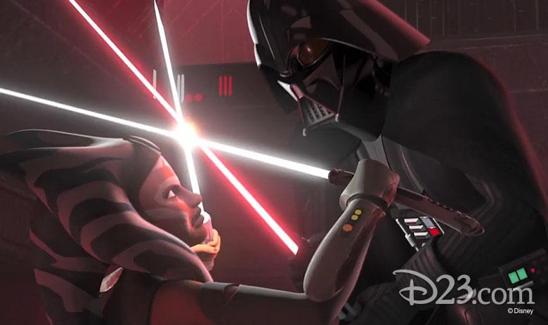 Ahsoka fights Darth Vader