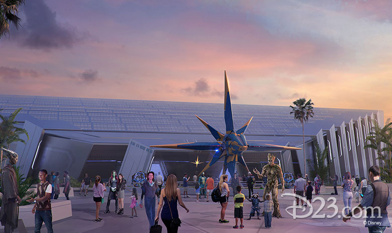 Guardians of the Galaxy at Epcot concept art