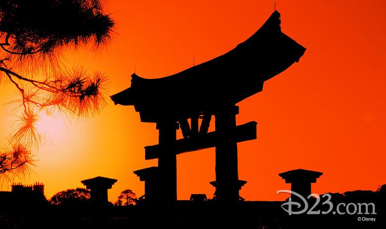 Torii Gate in Japan Pavilion