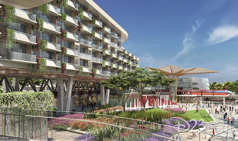 Disneyland Resort hotel concept art