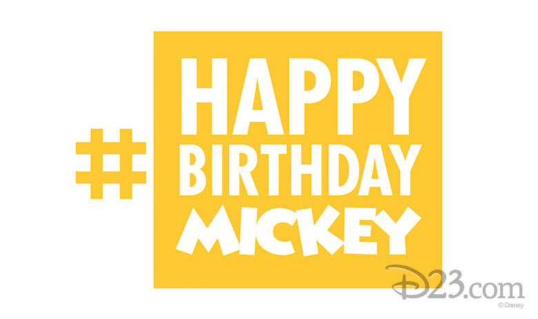 #HappyBirthdayMickey