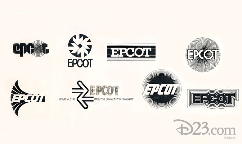 Epcot Center logo concepts