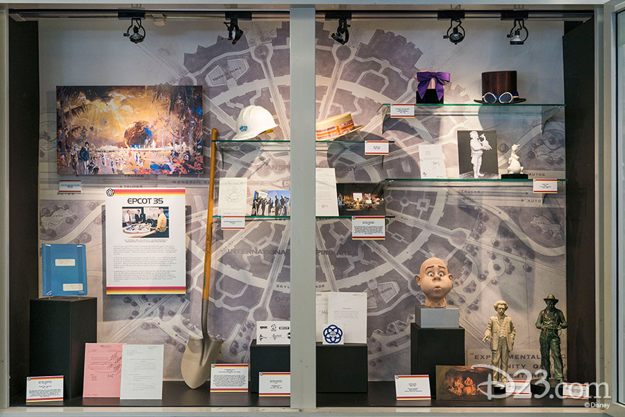 Epcot 35 exhibit by the Walt Disney Archives