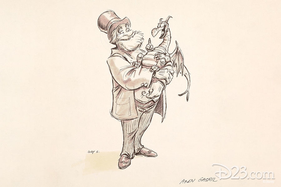 Dreamfinder and Figment concept art. Artist: Andrew Gaskill