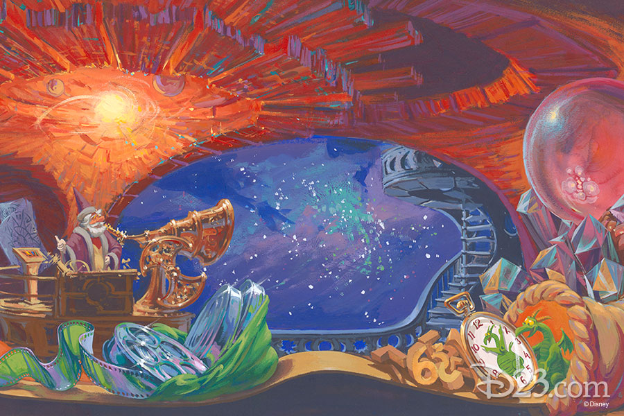 Concept art of Journey Into Imagination. Artist: Andrew Gaskill (1980)