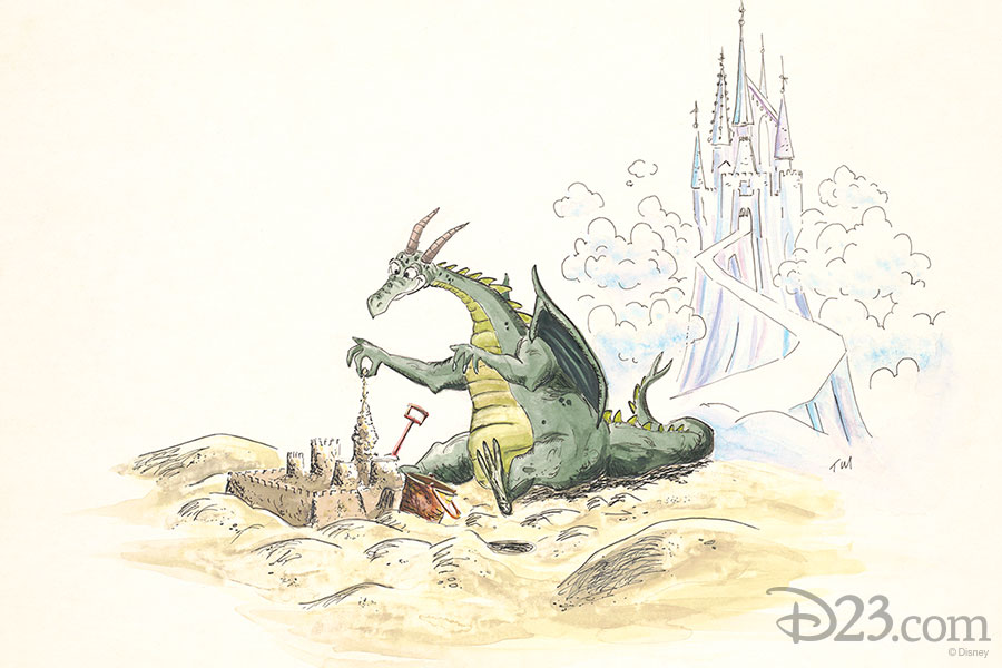 Concept art of Figment. Artist: Tom Morris (1979)