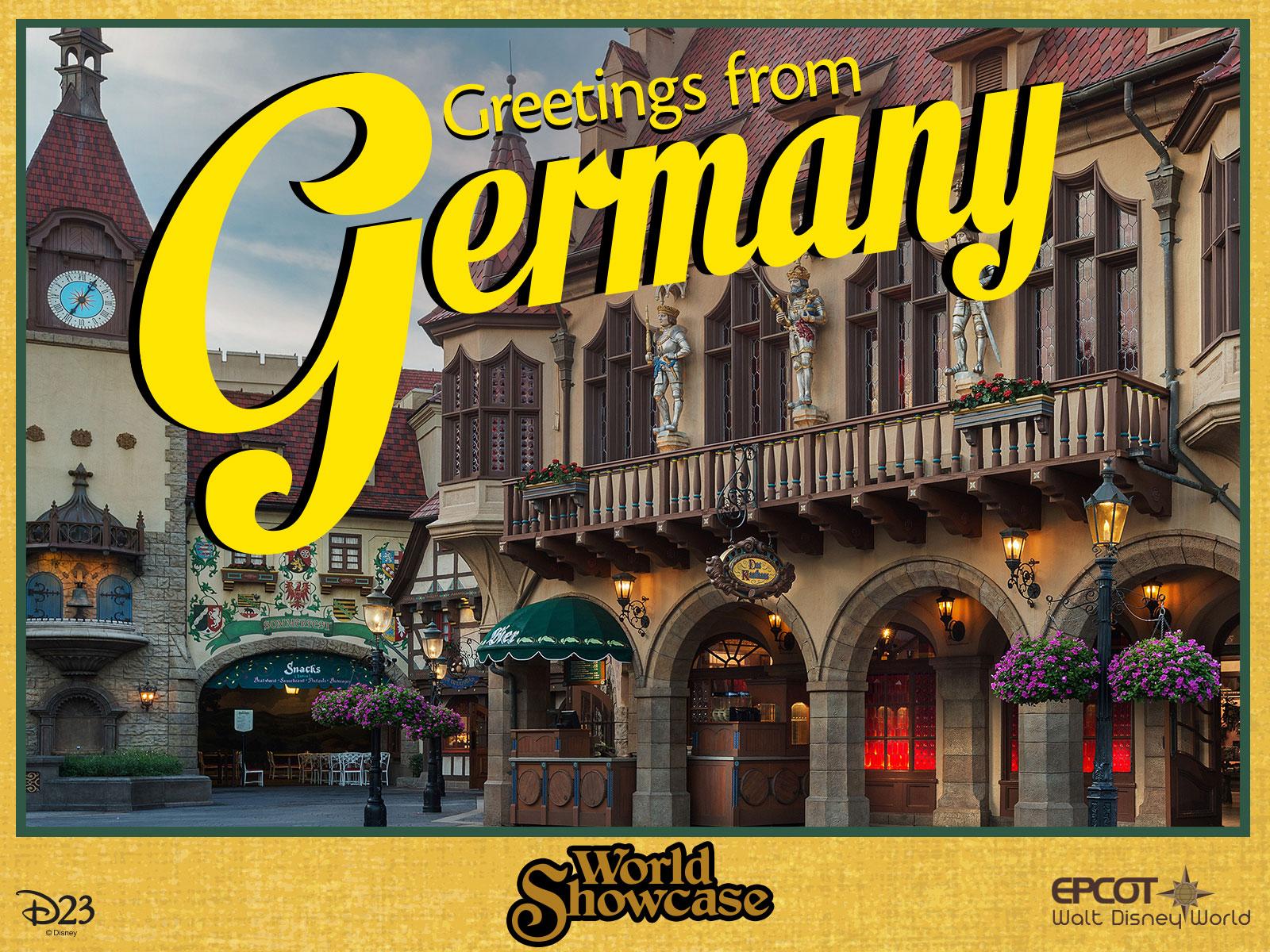 Germany pavilion postcard