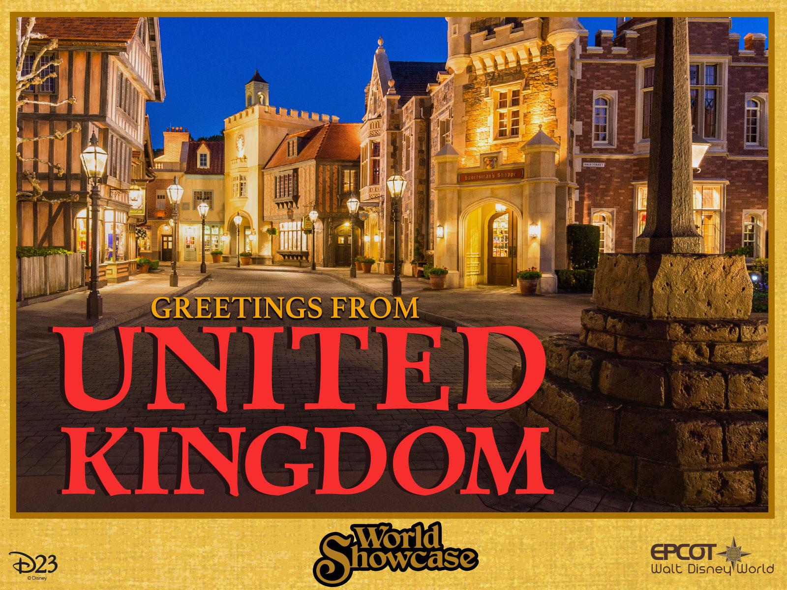 United Kingdom pavilion postcard