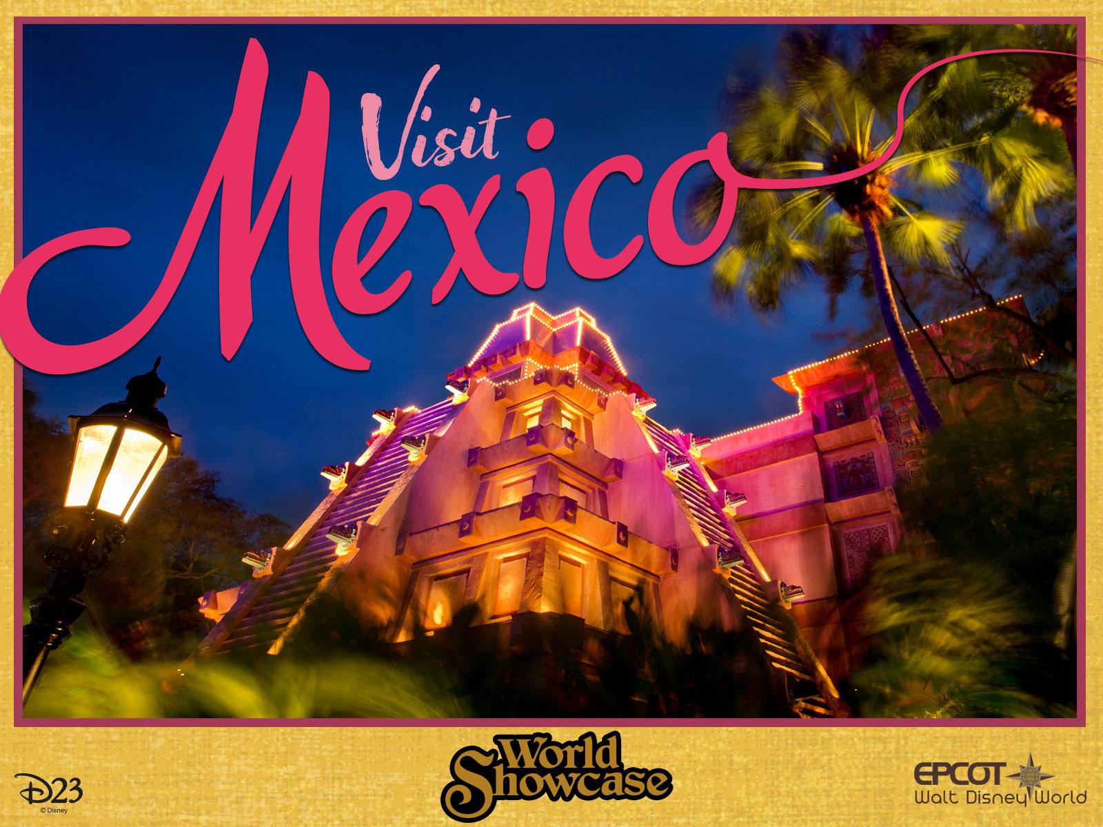 Mexico pavilion postcard