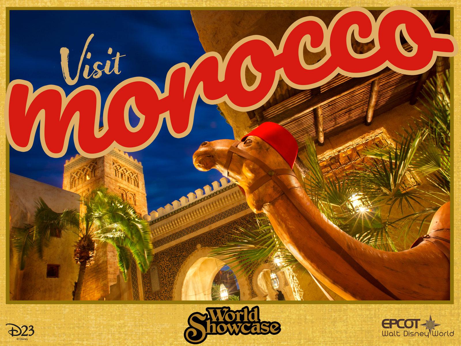 Morocco pavilion postcard
