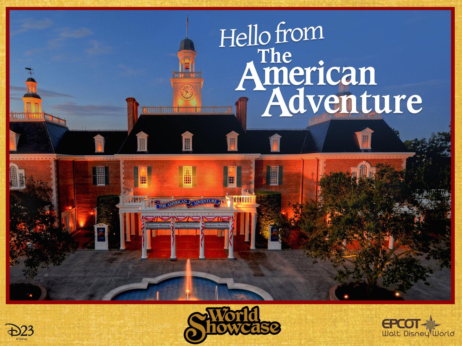 The American Adventure pavilion postcard