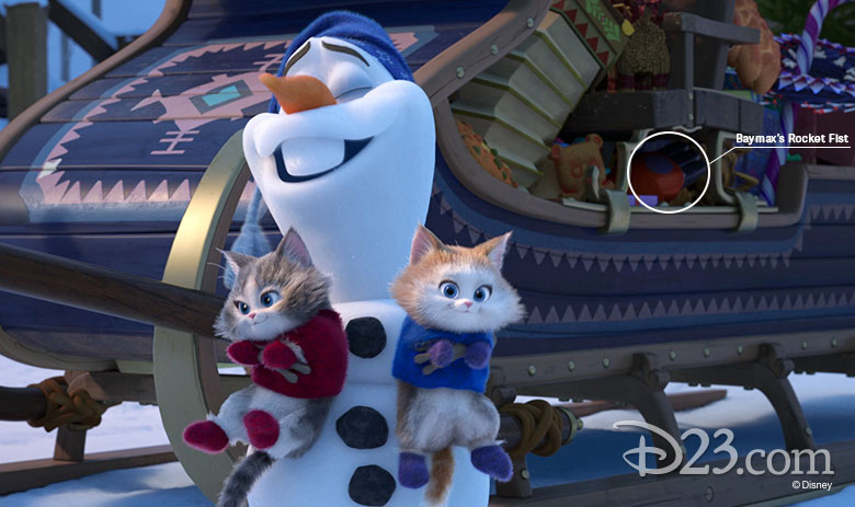 Olaf's Frozen Adventure easter eggs