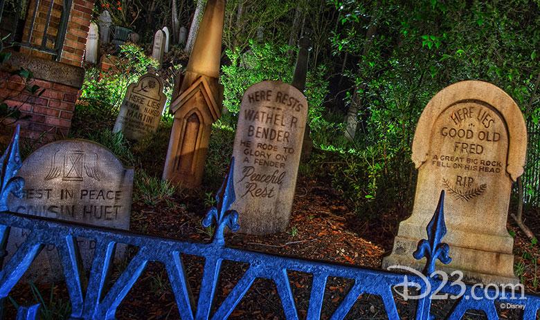 Haunted Mansion tomb stones