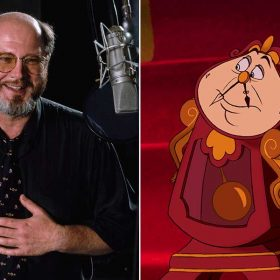David Ogden Stiers and Cogsworth