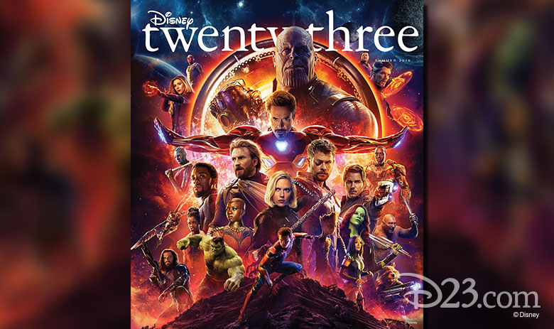 Disney twenty-three Summer 2018 Avengers: Infinity War cover