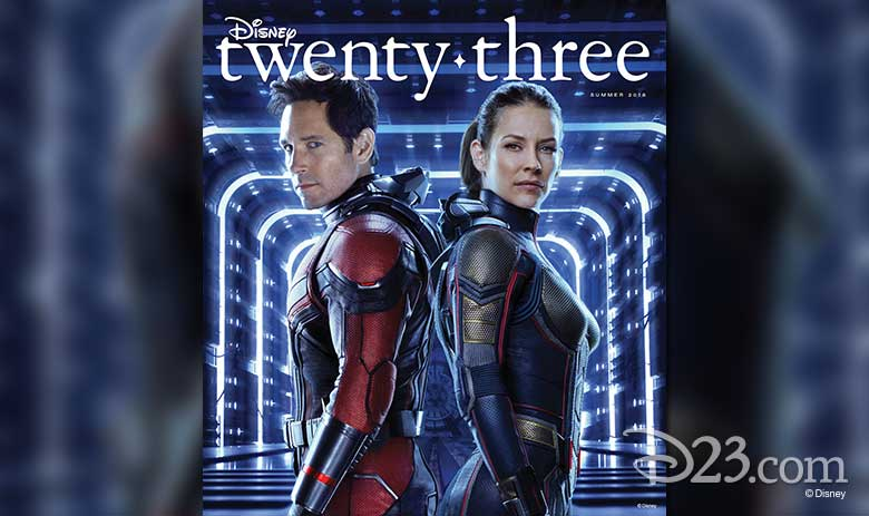Disney twenty-three Summer 2018 Ant-Man and the Wasp cover