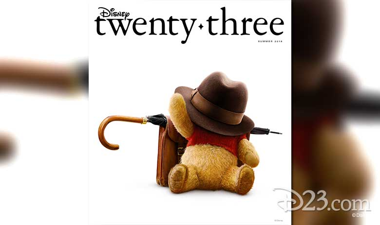 Disney twenty-three Summer 2018 Christopher Robin cover