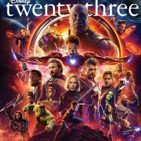 Summer 2018 Disney twenty-three cover - Infinity War
