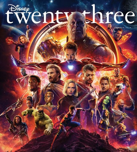 Summer 2018 Disney twenty-three cover - Infinity War