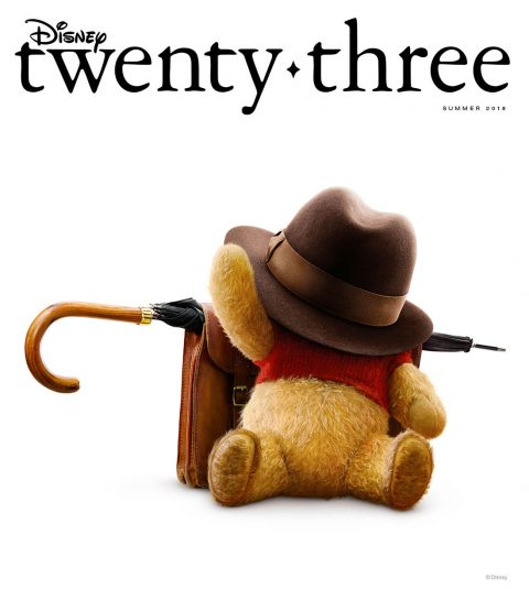 Summer 2018 Disney twenty-three cover - Christopher Robin