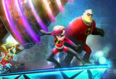 Incredibles paint the night float