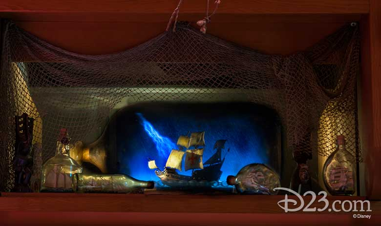ship-in-a-bottle at Trader Sam's Enchanted Tiki Bar