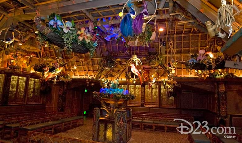 The tropical hideaway inside the Enchanted Tiki Room