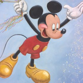 "Mickey Mouse Portrait ""Spreading Happiness around the World"""