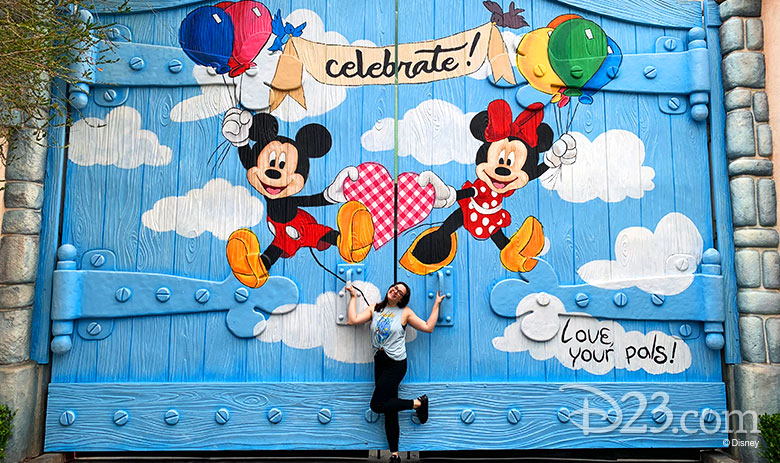 Mickey and Minnie celebration wall