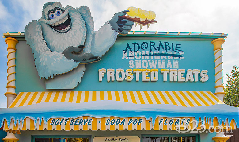 Adorable Snowman Frosted Treats - non-dairy treats at Disney Parks