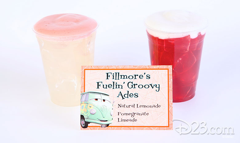 Fillmore's Fuelin' Groovy Aides - non-dairy treats at Disney Parks
