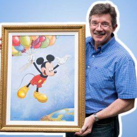 Mark Henn and his Mickey portrait