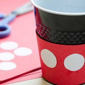 D23 Party Kit crafts Mickey party cups