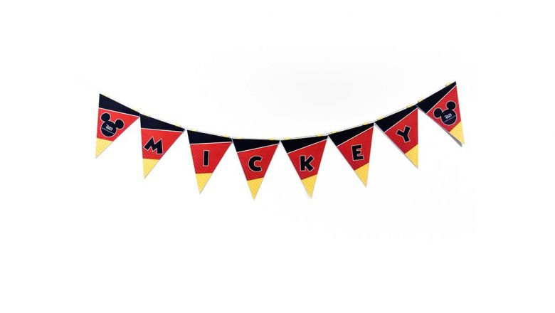 D23 Party Kit craft Mickey Pennant Banner